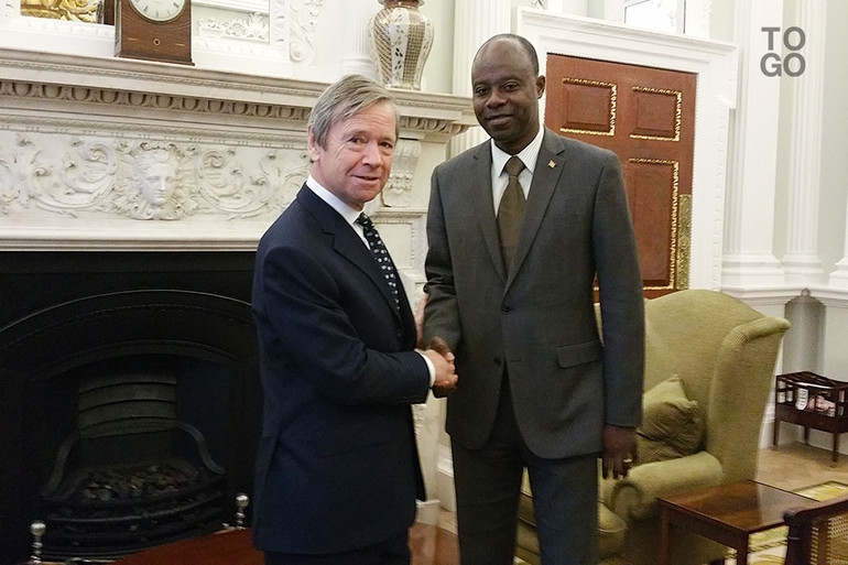 Lord-Mayor in London with the Ambassador-of-Togo